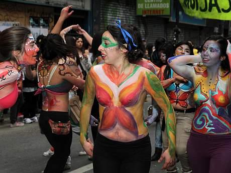 Cuerpo pintado adolescentes florida